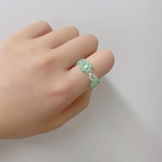 rinnu. (53) Flower ring 韓国ビーズアクセサリー(リング)