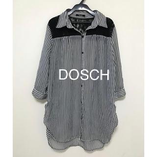 Dosch - DOSCH  ストライプ  レース シャツ L