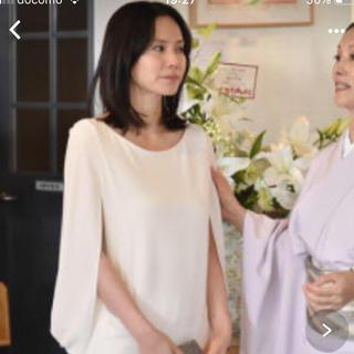 アドーア(ADORE)の中谷美紀さん ドラマ着用 ホワイトワンピース  Kate Spadeチョーカー付(ひざ丈ワンピース)