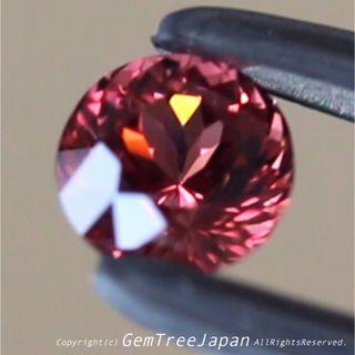 タンザニア産スピネル1.022ct 綺麗なピンクパープルの煌めくラウンドカット