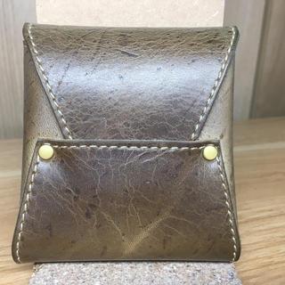 ガンゾ(GANZO)のラクリエ ミニウォレットver2.0 KUDUレザー(折り財布)