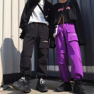 ⑪【新品】ピープス女子 カーゴパンツ 紫 (ワークパンツ/カーゴパンツ)