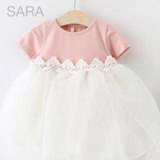 新品 ベビードレス ワンピース【結婚式にオススメ】ピンク サイズ80(セレモニードレス/スーツ)