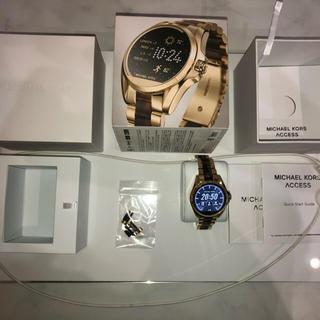 MICHAEL KORS スマートウォッチMKT5003 ゴールド べっ甲 美品(腕時計(デジタル))
