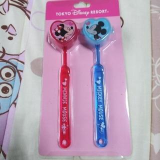 ディズニー(Disney)のミッキー&ミニー柄の歯ブラシセット(歯ブラシ/デンタルフロス)