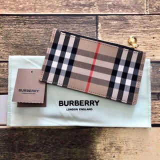 バーバリー(BURBERRY)の新品 BURBERRY バーバリーチェック コイン&カードケース チェック(名刺入れ/定期入れ)