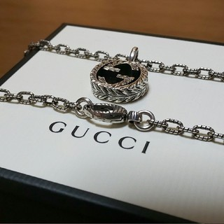 グッチ(Gucci)のGUCCI 燻しネックレス ラージ スモール の2つ 専用(ネックレス)