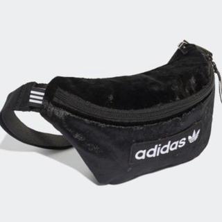 adidas - 新品 adidas アディダス ウエストバッグ ウエストポーチ ベルベット