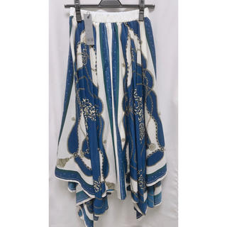 JEANASIS - 新品未使用JEANASISスカーフ柄フレアスカート