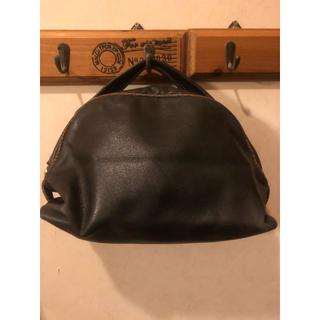 BORBONESE ハンドバッグ 本革 黒 可愛い イタリア製(バッグ)