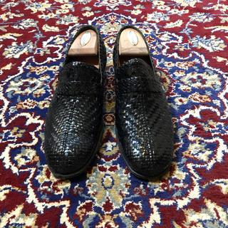 Hender Scheme - ITALY vintage waving leather heel loafer