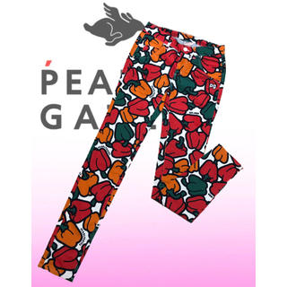 PEARLY GATES - 美品♡パーリーゲイツ パプリカ柄  総柄  スキニー  ゴルフパンツ レディース