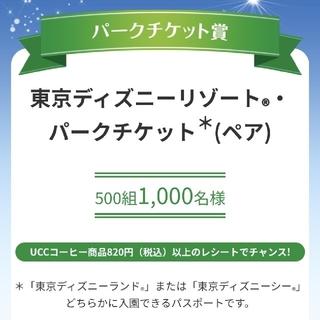 ディズニー(Disney)のディズニー懸賞  UCC  レシート (その他)