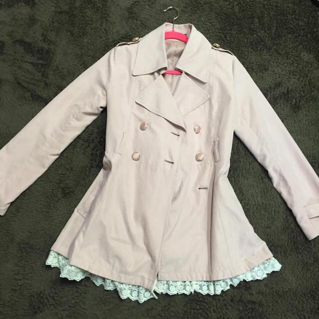 ピンク トレンチ レディースのジャケット/アウター(トレンチコート)の商品写真