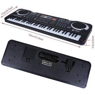 電子キーボード 61キー キッズピアノ デジタルキーボード 多機能 音楽キーボー(キーボード/シンセサイザー)