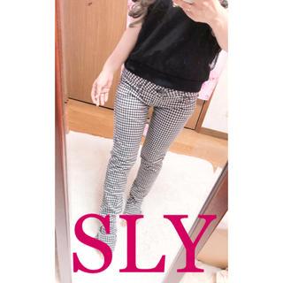 SLY - 2076.SLY ギンガムチェック柄 ブロックチェック柄 スキニーパンツ