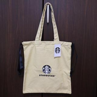 Starbucks Coffee - 【新品】台湾スターバックス  トートバッグ 女神様 マスタードカラー 巾着風