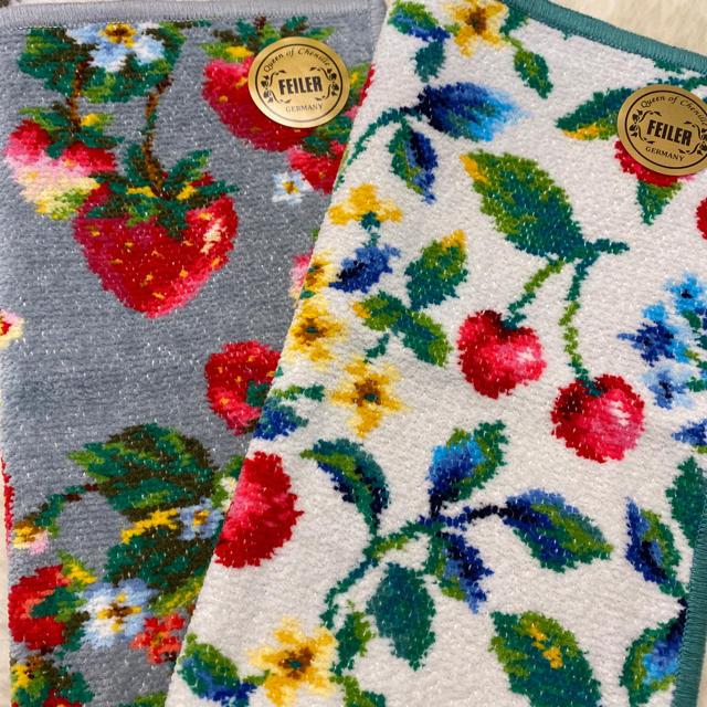 FEILER(フェイラー)のフェイラー  ハンカチ2枚セット🍓🍒 レディースのファッション小物(ハンカチ)の商品写真