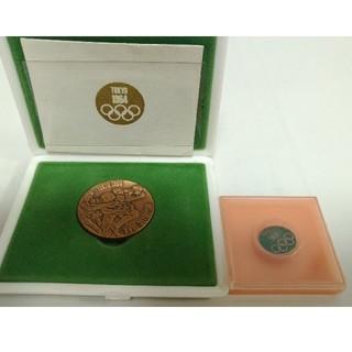 東京オリンピック 1964 記念メダル 銅 資金財団 バッジ セット(貨幣)
