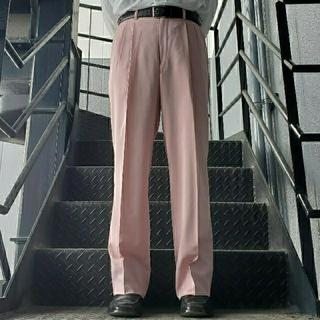 ジョンローレンスサリバン(JOHN LAWRENCE SULLIVAN)のヴィンテージ スラックス トラウザー ワイドパンツ ピンク(スラックス)