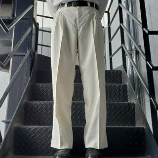 JOHN LAWRENCE SULLIVAN - ヴィンテージ スラックス トラウザー ワイドパンツ ホワイト