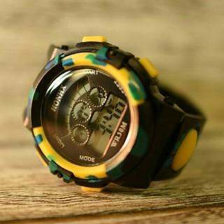 日本語説明付き☆新品送料込みHONHX 迷彩 キッズ子供用アウトドア腕時計5(腕時計)