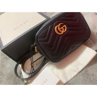 Gucci - GUCCI GGマーモント ショルダーバッグ 美品 最終値下げ。