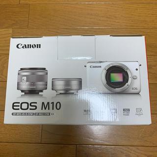 Canon - Canon ミラーレス一眼カメラ  ダブルレンズキット EOSM10GY-WLK