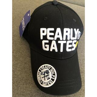PEARLY GATES - パーリーゲイツ キャップ 帽子 黒