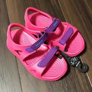 crocs - クロックス サンダル キッズ 女の子 15.5cm
