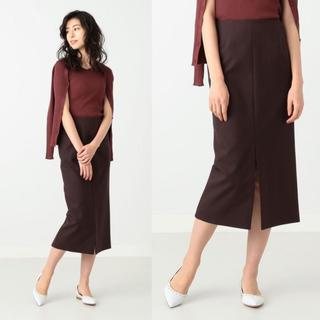 デミルクスビームス(Demi-Luxe BEAMS)のスリットタイトスカート(ひざ丈スカート)