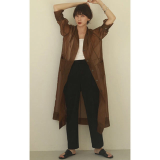 TODAYFUL - TODAYFUL新作新品Sheer Shirts Gown シアーシャツガウン