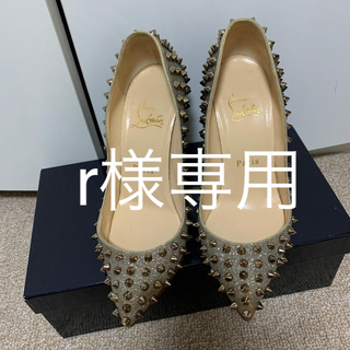 Christian Louboutin - クリスチャン・ルブタン☆スタッズパンプス☆ゴールド35.5