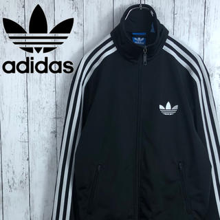 adidas - 【アディダス】刺繍ロゴ☆ファイヤーバード☆トラックジャケット☆ジャージ☆黒x白
