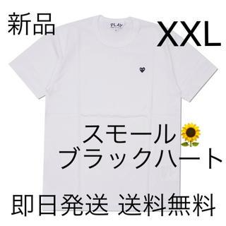 COMME des GARCONS - 入手困難 XXLサイズ プレイコムデギャルソン スモールブラックハート Tシャツ