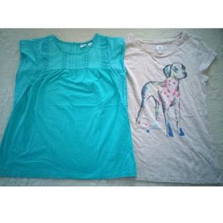 ギャップキッズ(GAP Kids)の☆GAP KIDS半袖シャツ2枚セット★ XL 150 犬(Tシャツ/カットソー)