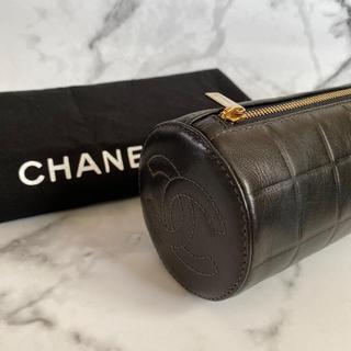 CHANEL - 【極美品☆】CHANEL ラムスキン チョコバーポーチ / ブラック