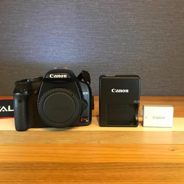 Canon(キヤノン)の【Canon】EOS Kiss X2 ボディ スマホ/家電/カメラのカメラ(デジタル一眼)の商品写真