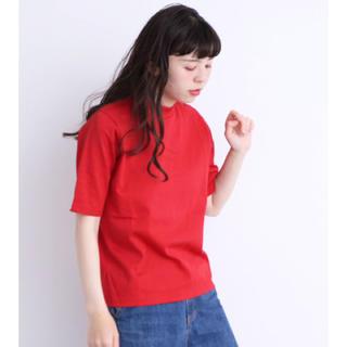 ドットアンドストライプスチャイルドウーマン(Dot&Stripes CHILDWOMAN)の2019SS CHILD WOMANバスクテレコハイネック5分袖プルオーバー(カットソー(半袖/袖なし))