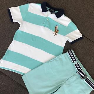 Ralph Lauren - 【美品】夏に爽やかなラルフローレン ポロシャツ・パンツセット6T・7T
