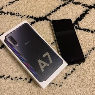 ギャラクシー(Galaxy)の美品★Galaxy A7 ブラック 64 GB★Rakuten★unlimit(スマートフォン本体)