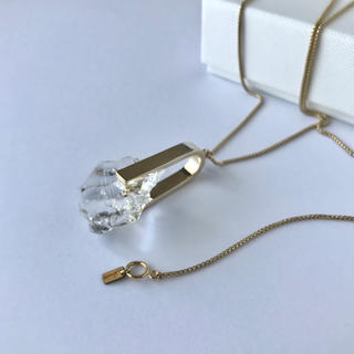 soierie ソワリー クリスタルネックレス Crystal necklace(ネックレス)