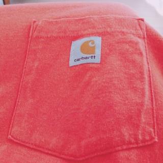 カーハート(carhartt)のカーハート Carhartt ロンT ポケット付き オレンジ サイズL(Tシャツ/カットソー(七分/長袖))