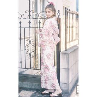 メゾンドフルール(Maison de FLEUR)のメゾンドフルール 2020 浴衣 巴里のフラワーブーケ ライトピンク(浴衣)