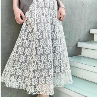 IENA - IENA♡フレアーフラワーレーススカート 34