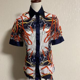 ナラカミーチェ(NARACAMICIE)のお値下げ。美品ナラカミーチェ マリンテイストの柔らかなシャツブラウス(シャツ/ブラウス(半袖/袖なし))