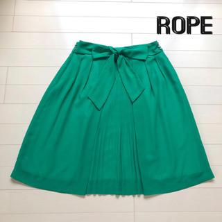 ROPE - 【ROPE ロペ】フレアスカート グリーン 春夏《フォロー割あり》