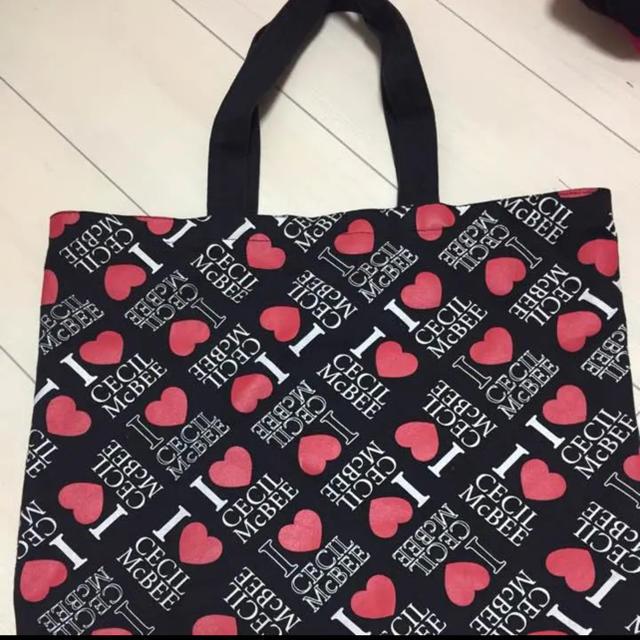 CECIL McBEE(セシルマクビー)のセシルマクビー ロゴ入り デニム生地 バッグ  レディースのバッグ(トートバッグ)の商品写真