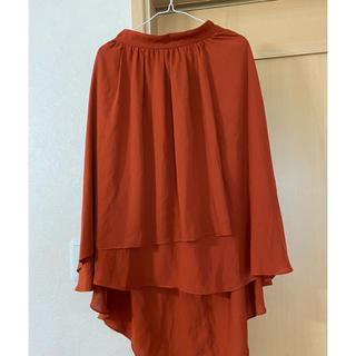 アフリカタロウ(AFRICATARO)のオレンジ色 ひざ丈スカート(ひざ丈スカート)
