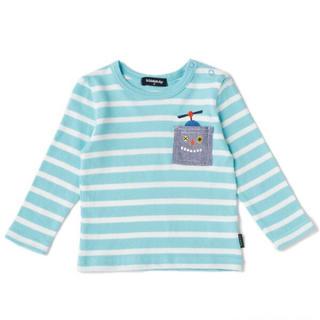 クレードスコープ(kladskap)のkladskap ロボットポケットボーダーTシャツ 110cm(Tシャツ/カットソー)